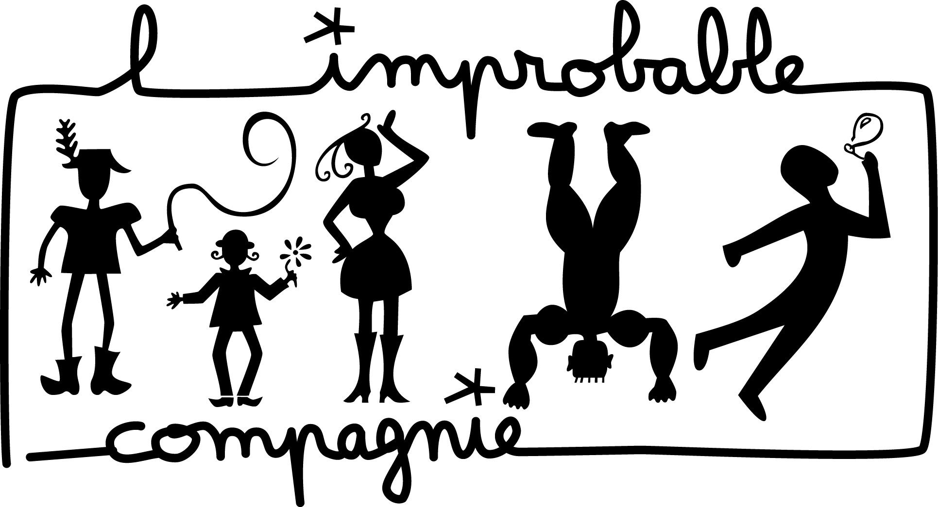 Logo de l'improbable compagnie, version rectangulaire